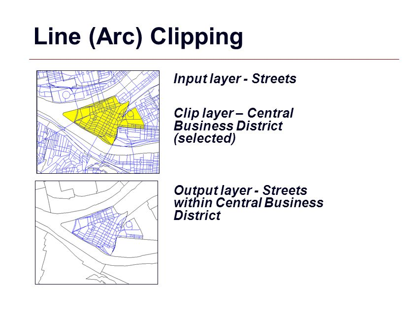 Line (Arc) Clipping Input layer - Streets