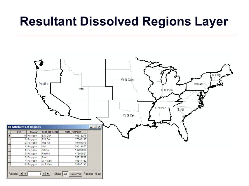 Resultant Dissolved Regions Layer