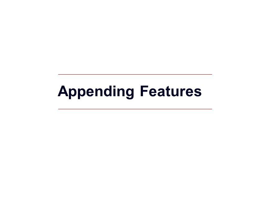 Appending Features