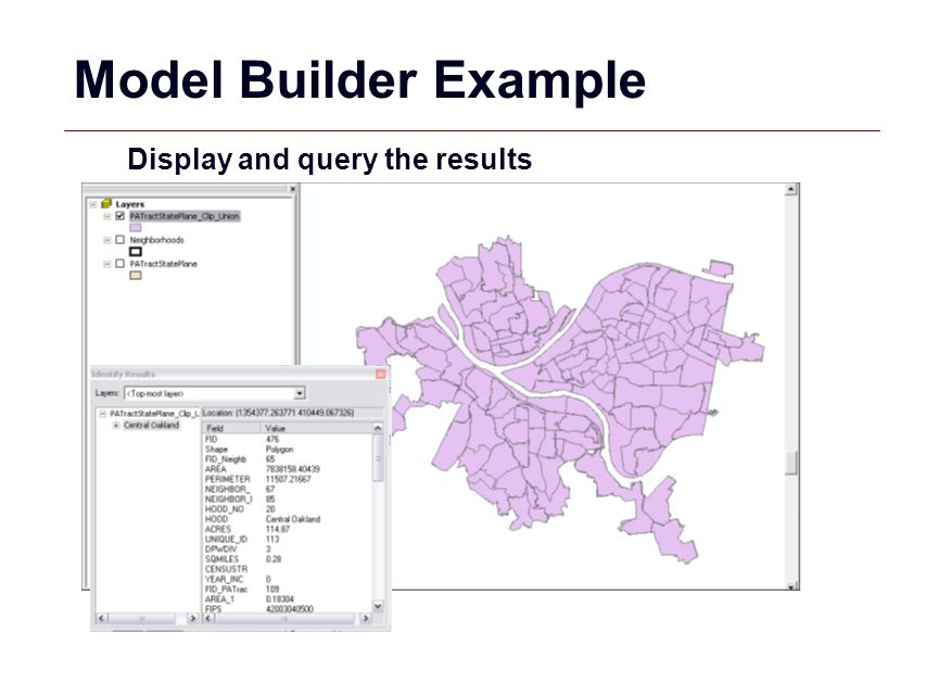 Model Builder Example Display and query the results