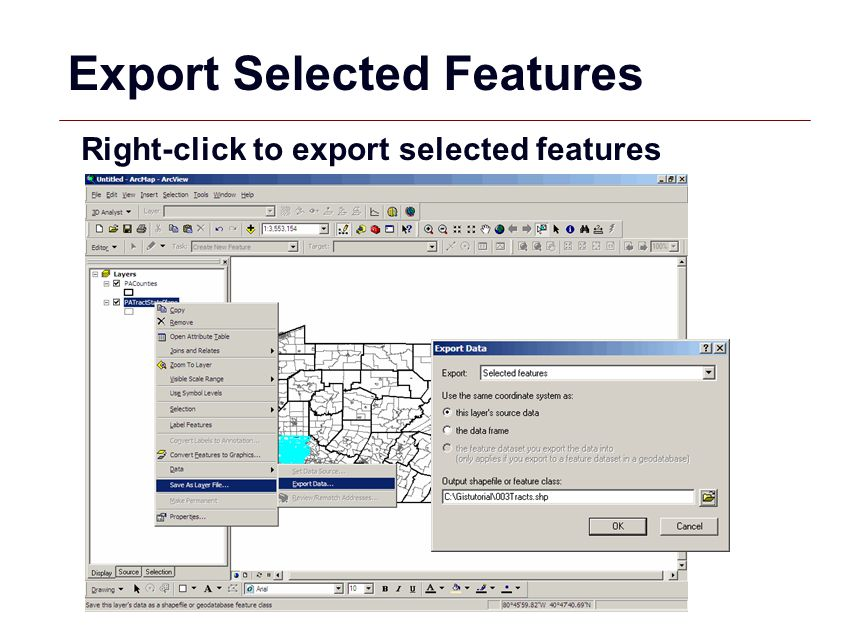 Export Selected Features
