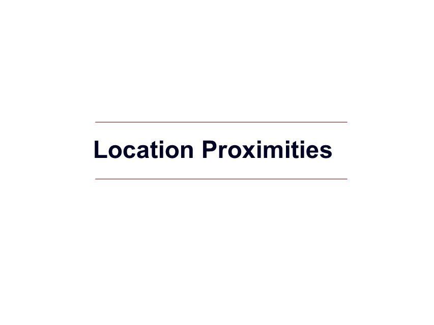 Location Proximities