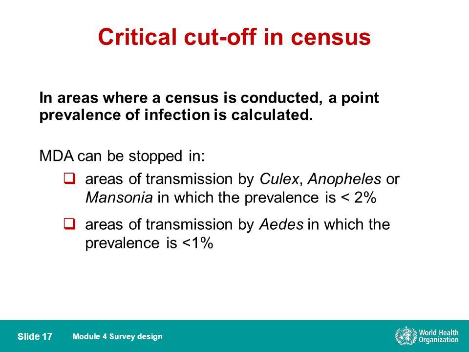 Critical cut-off in census