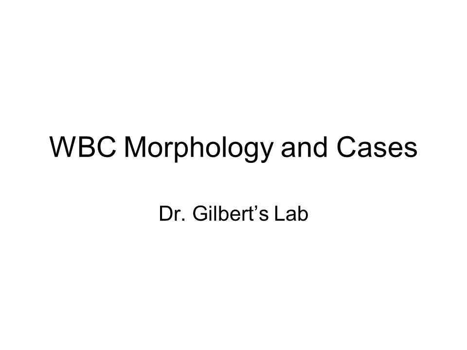 WBC Morphology and Cases