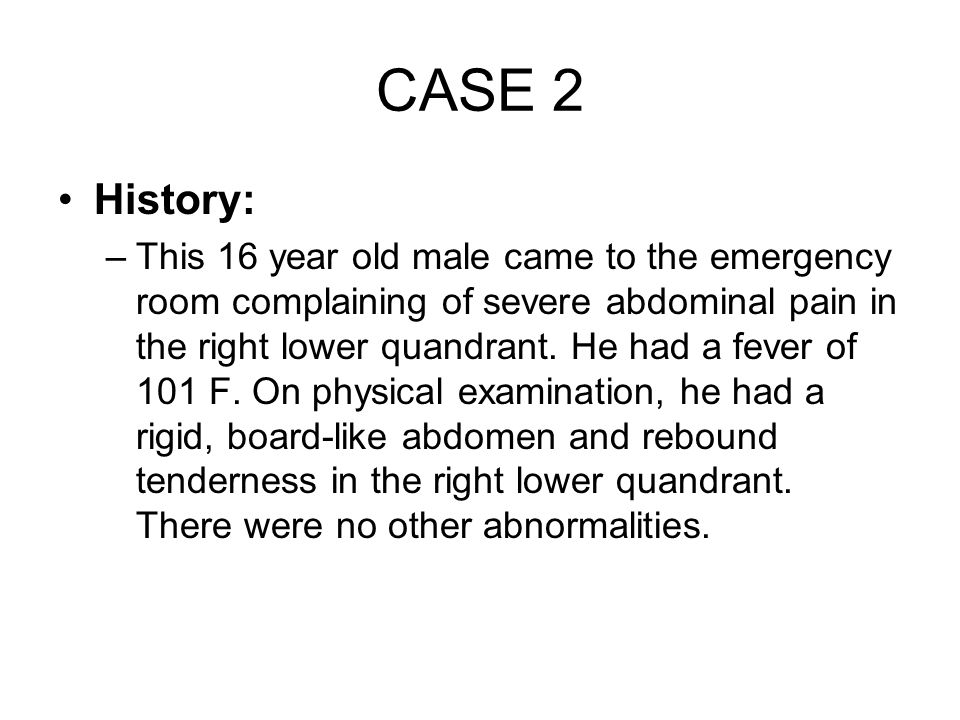 CASE 2 History: