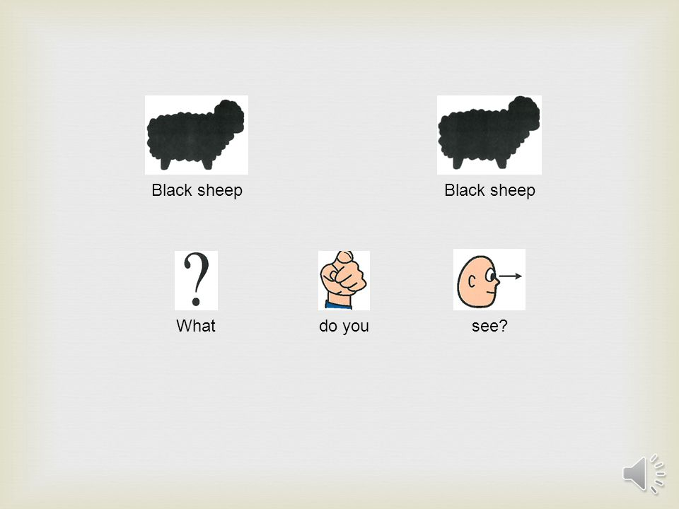 Black sheep What do you see