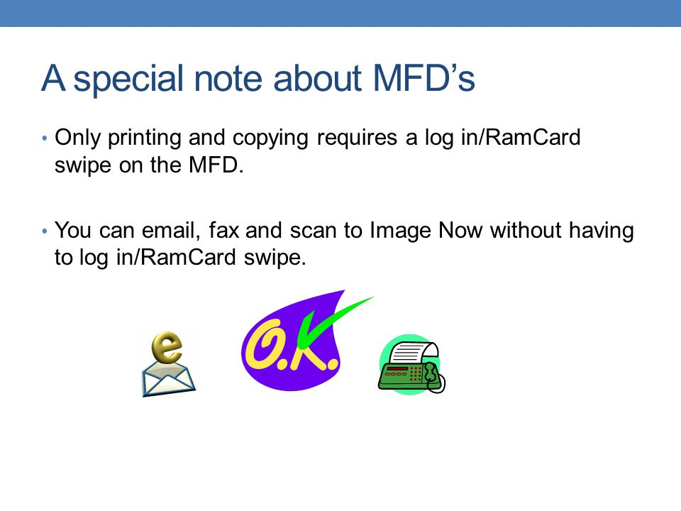 A special note about MFD's