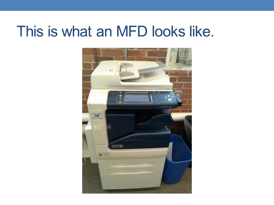 This is what an MFD looks like.