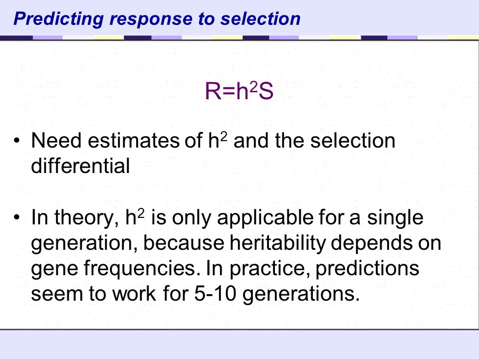 Predicting response to selection