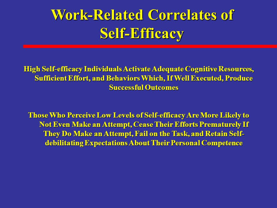 Work-Related Correlates of