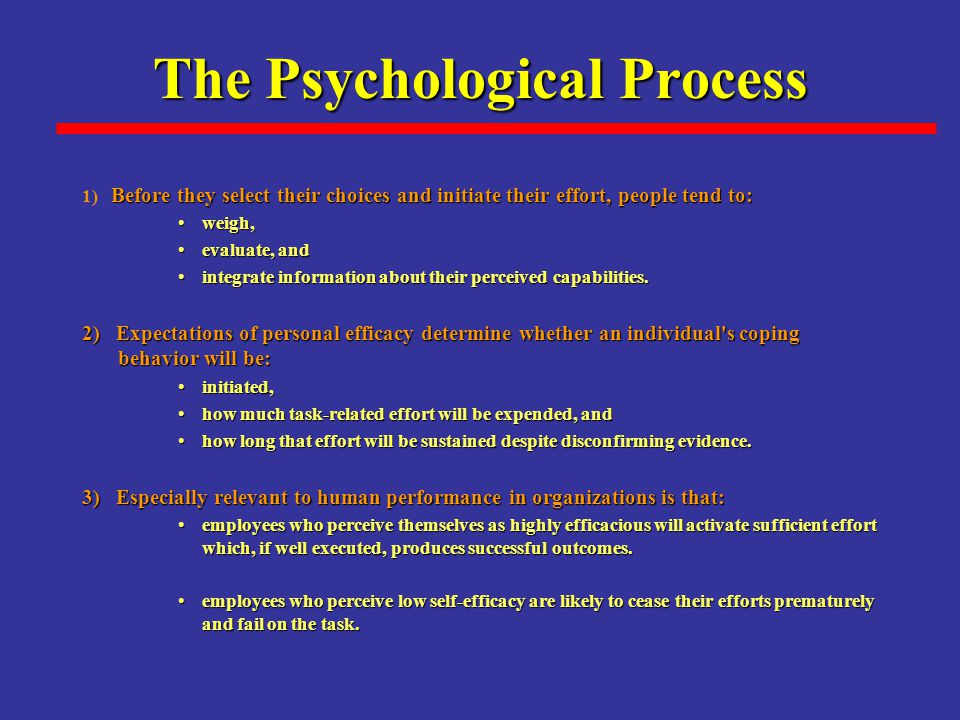 The Psychological Process