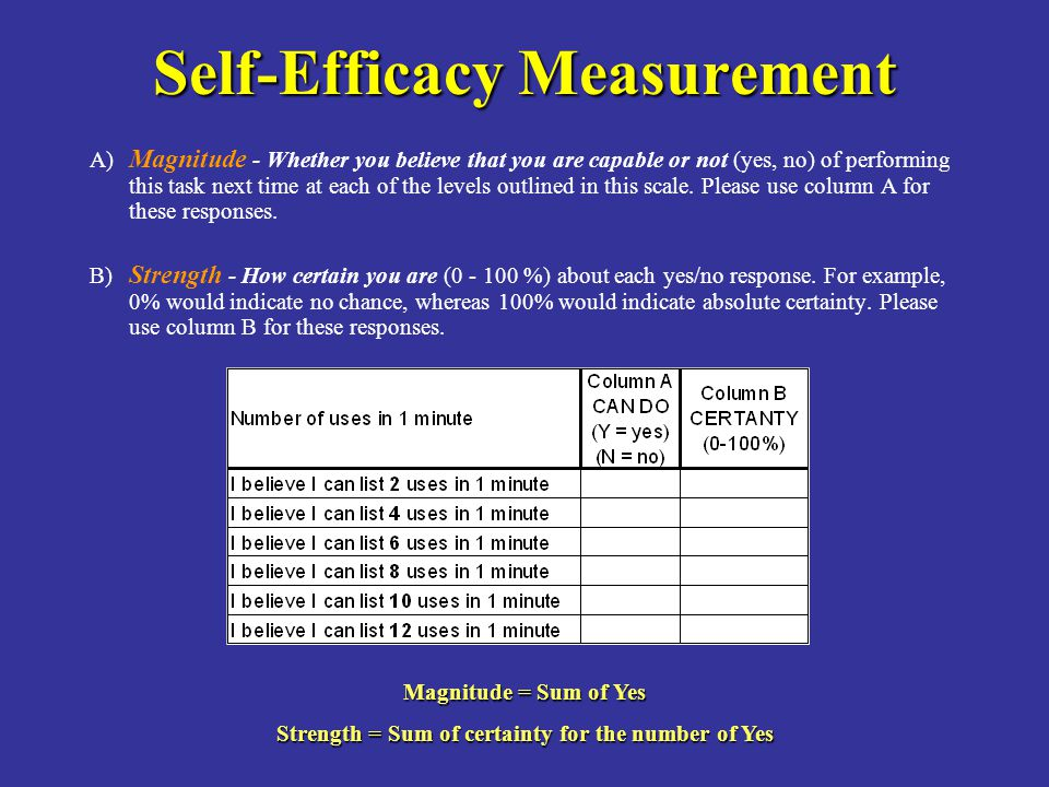 Self-Efficacy Measurement