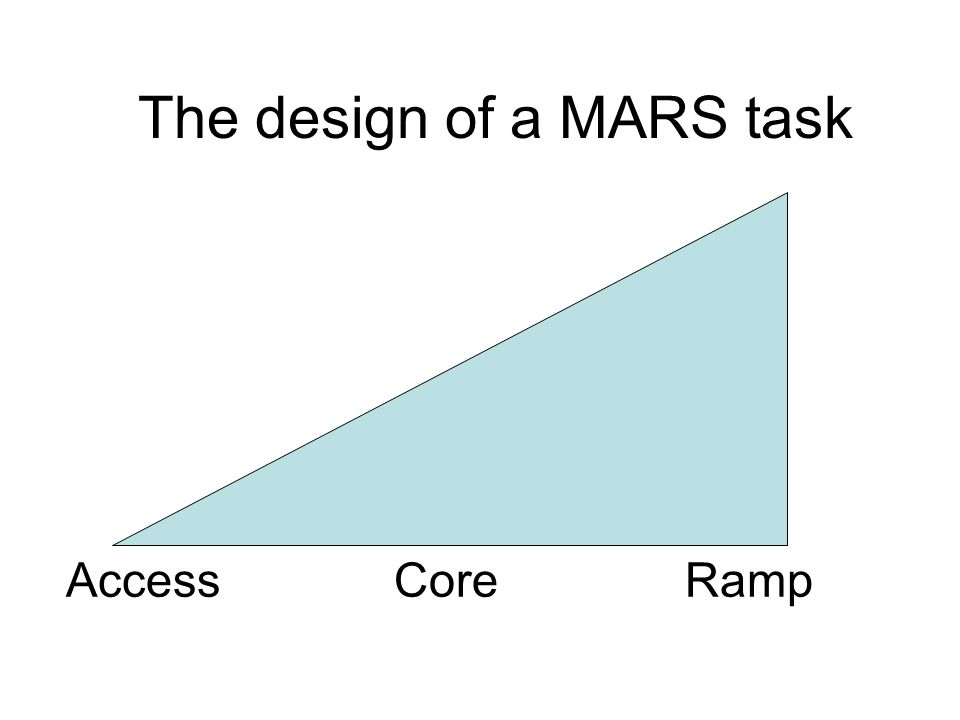 The design of a MARS task