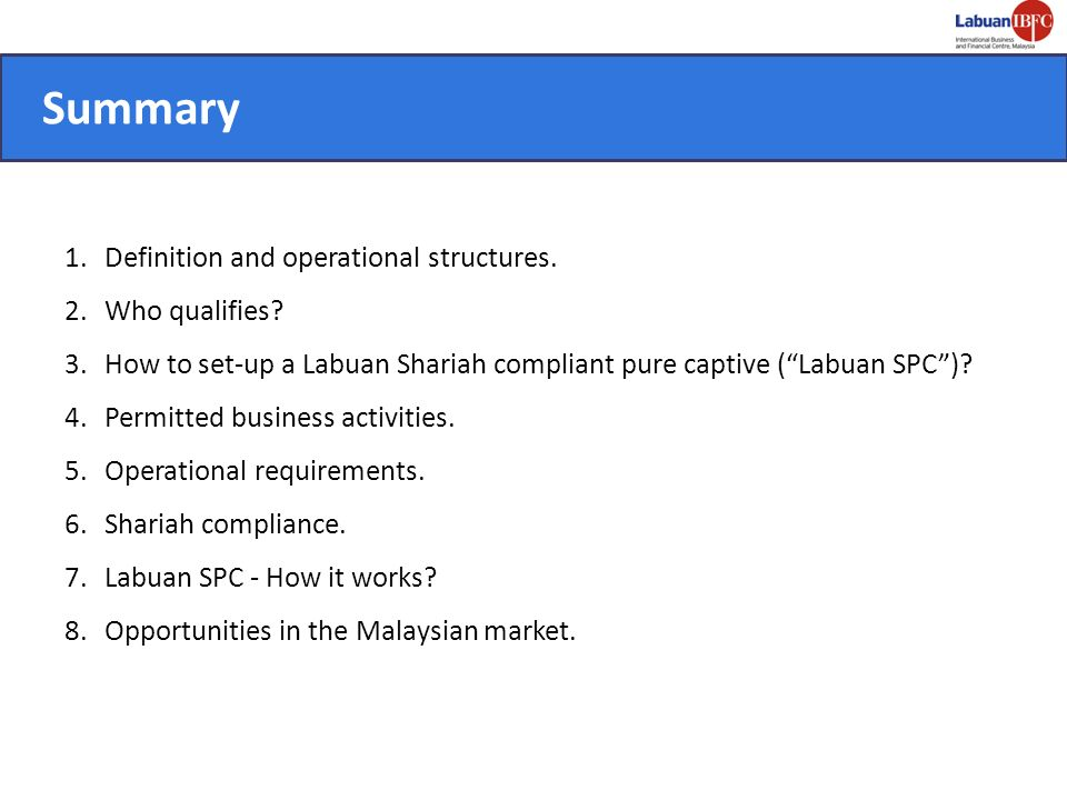 Summary Definition and operational structures. Who qualifies