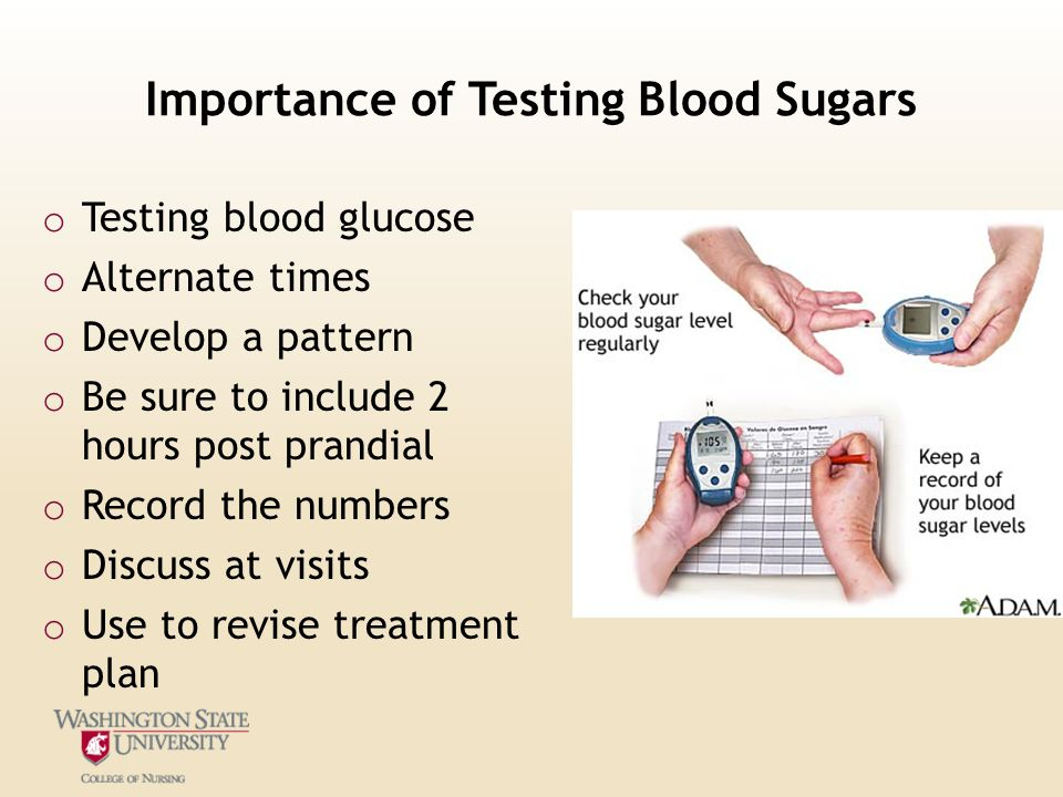 Importance of Testing Blood Sugars