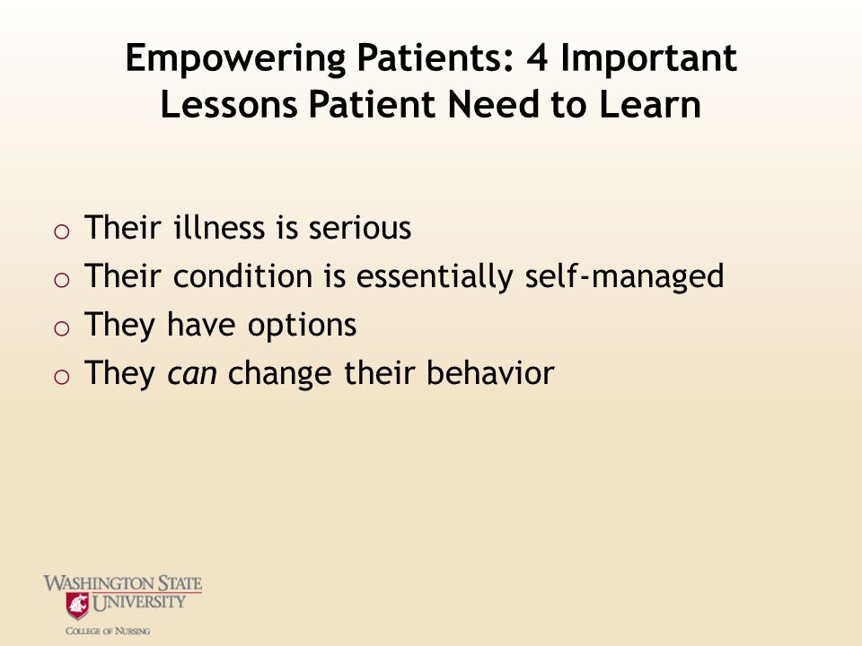Empowering Patients: 4 Important Lessons Patient Need to Learn