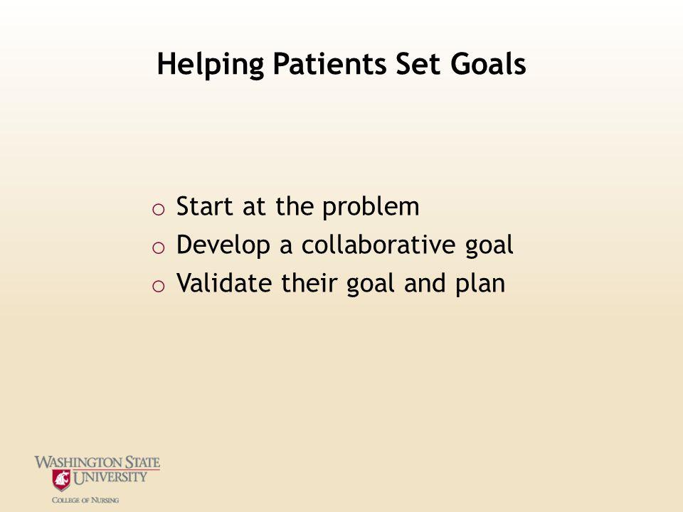 Helping Patients Set Goals