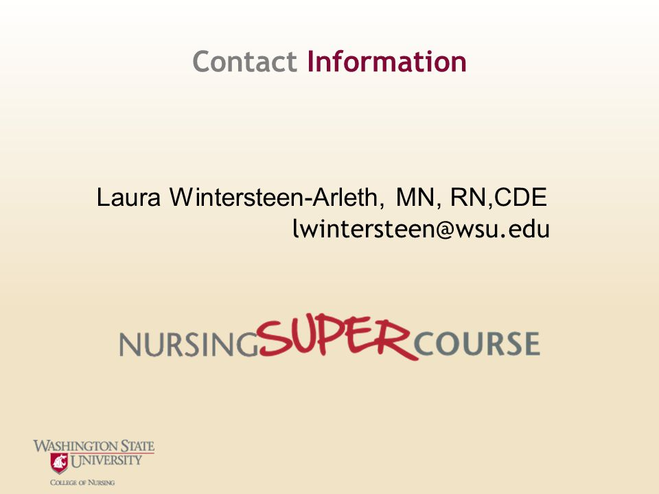 Contact Information Laura Wintersteen-Arleth, MN, RN,CDE