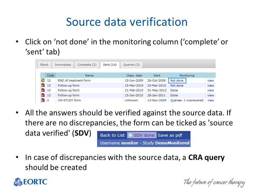 Source data verification