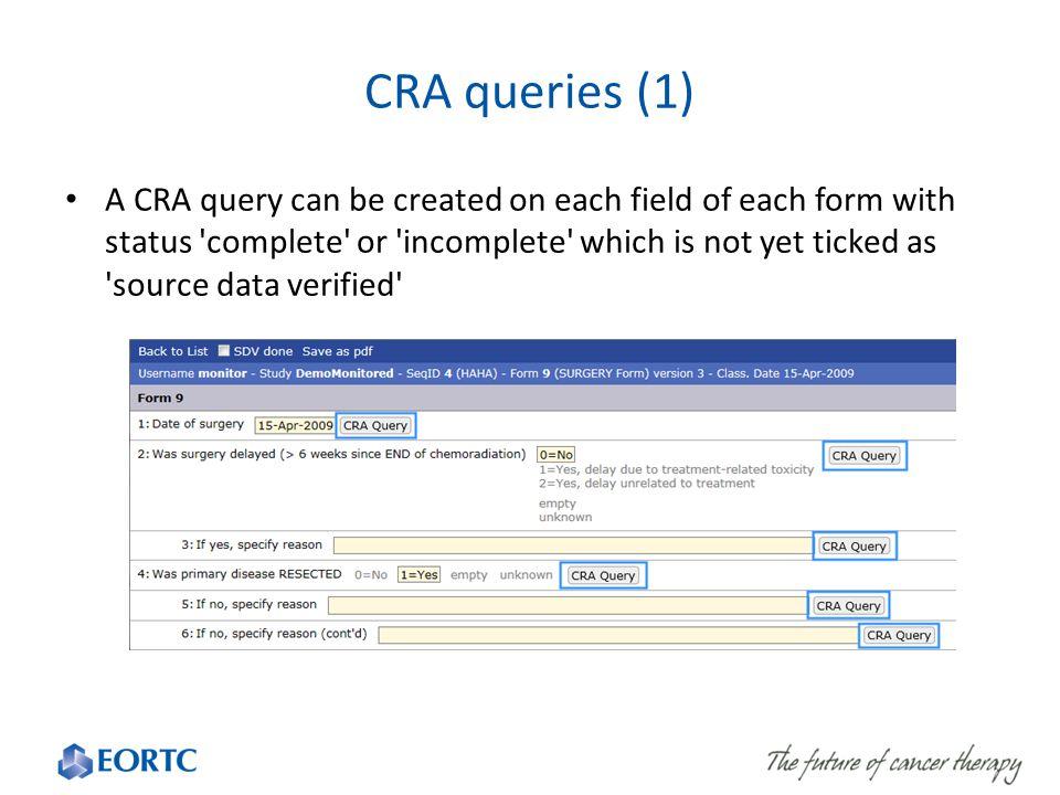 CRA queries (1)