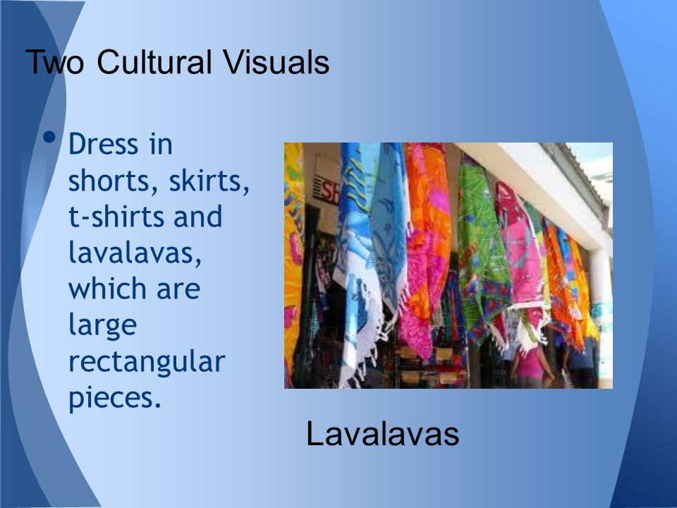 Two Cultural Visuals Lavalavas