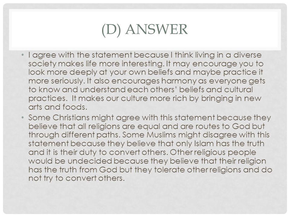 (d) answer