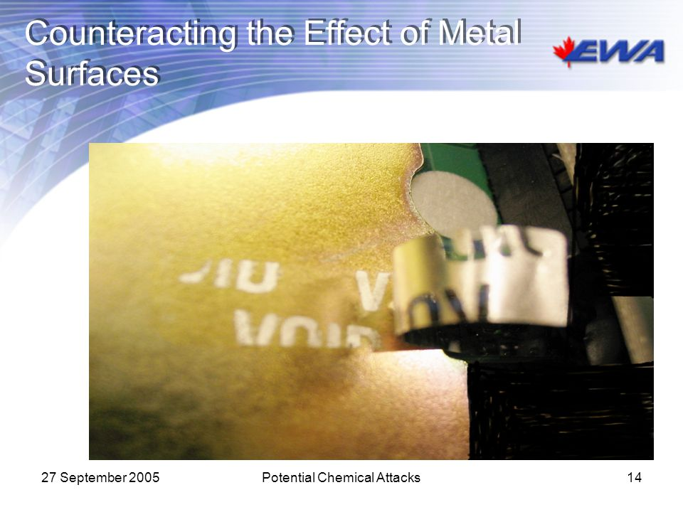 Counteracting the Effect of Metal Surfaces