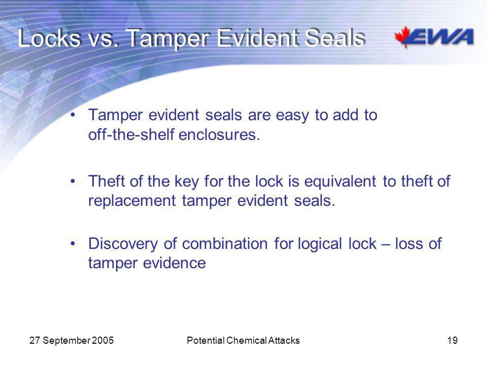 Locks vs. Tamper Evident Seals