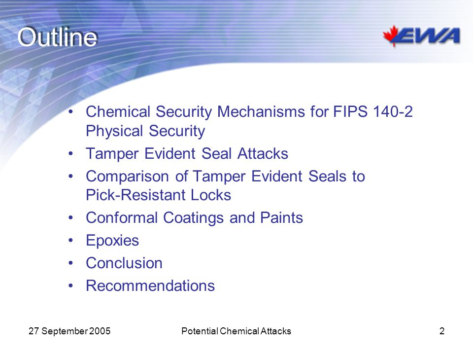 Potential Chemical Attacks