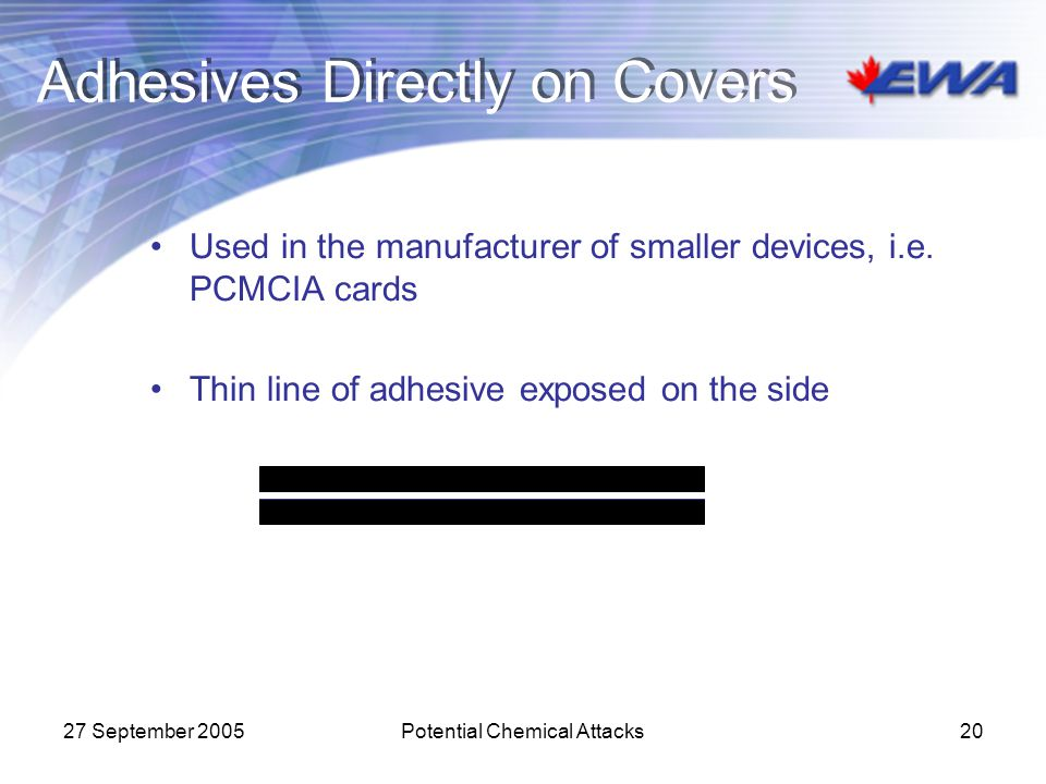 Adhesives Directly on Covers