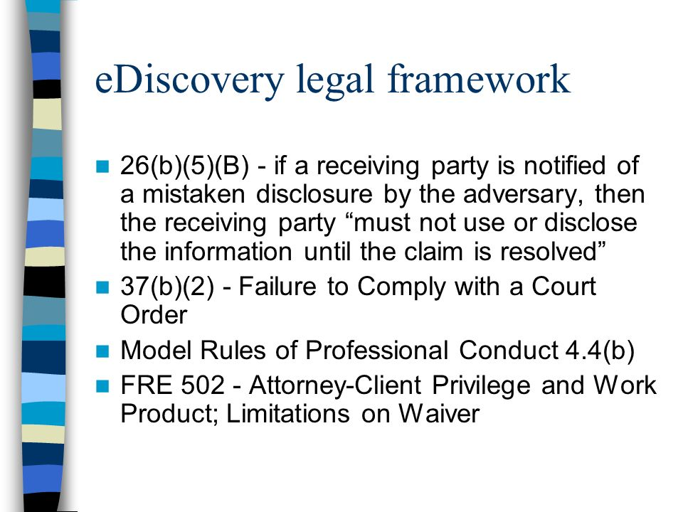 eDiscovery legal framework