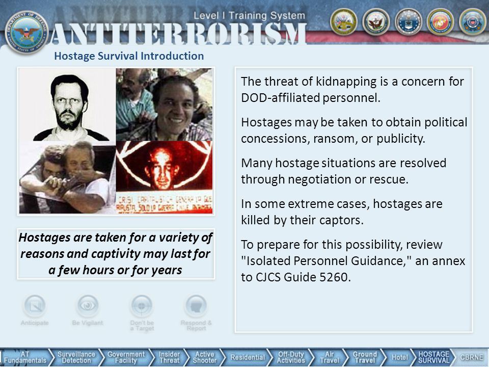 Hostage Survival Introduction