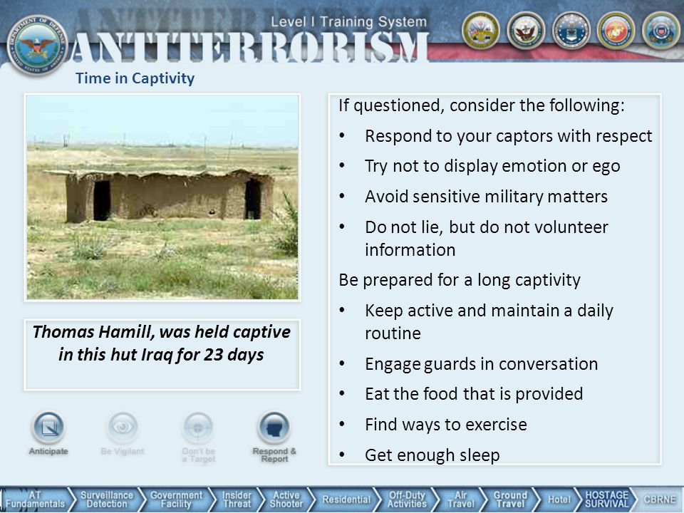 Thomas Hamill, was held captive in this hut Iraq for 23 days