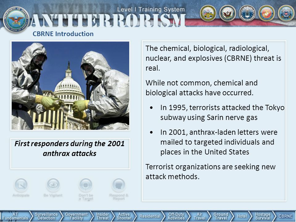 First responders during the 2001 anthrax attacks