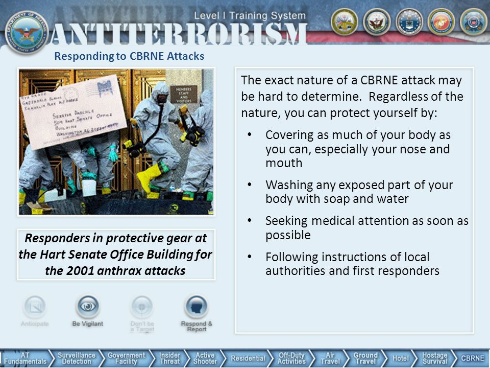 Responding to CBRNE Attacks