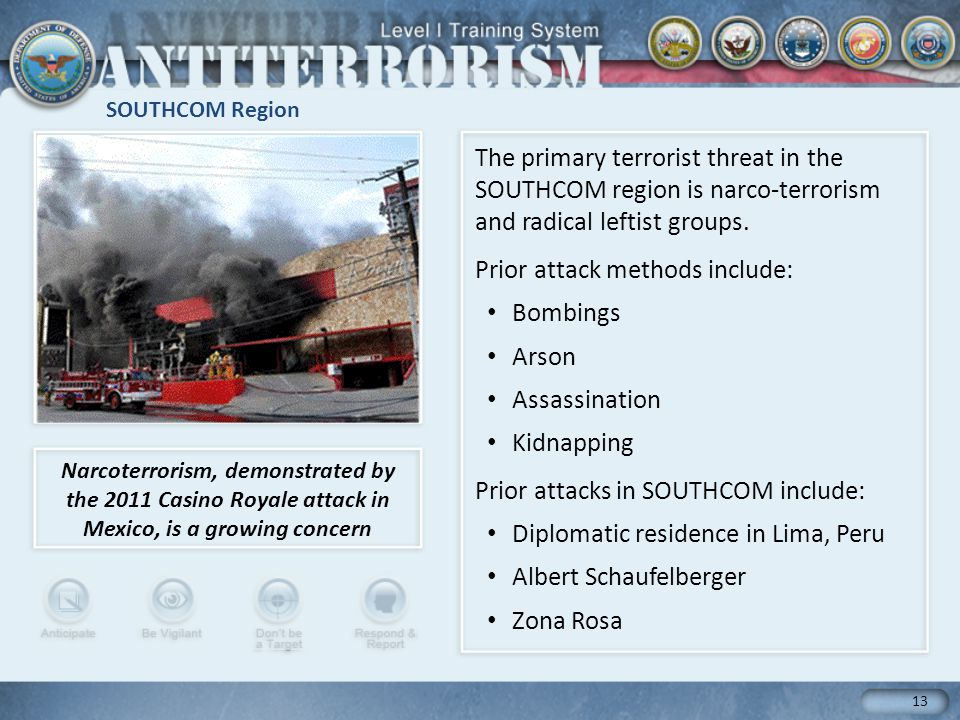 Prior attack methods include: Bombings Arson Assassination Kidnapping