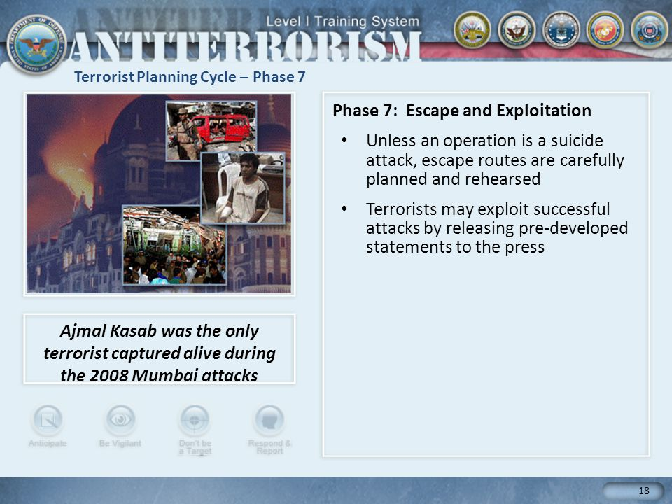 Terrorist Planning Cycle – Phase 7