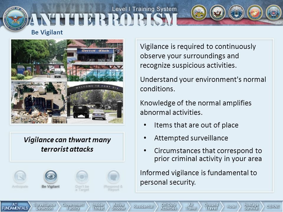 Vigilance can thwart many terrorist attacks