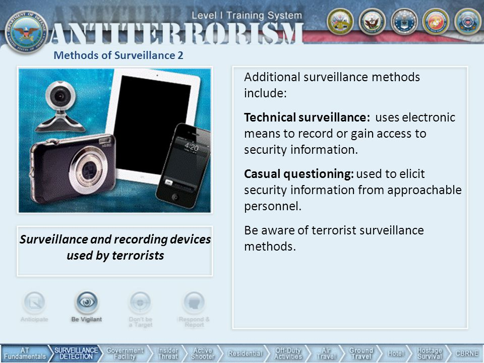 Methods of Surveillance 2