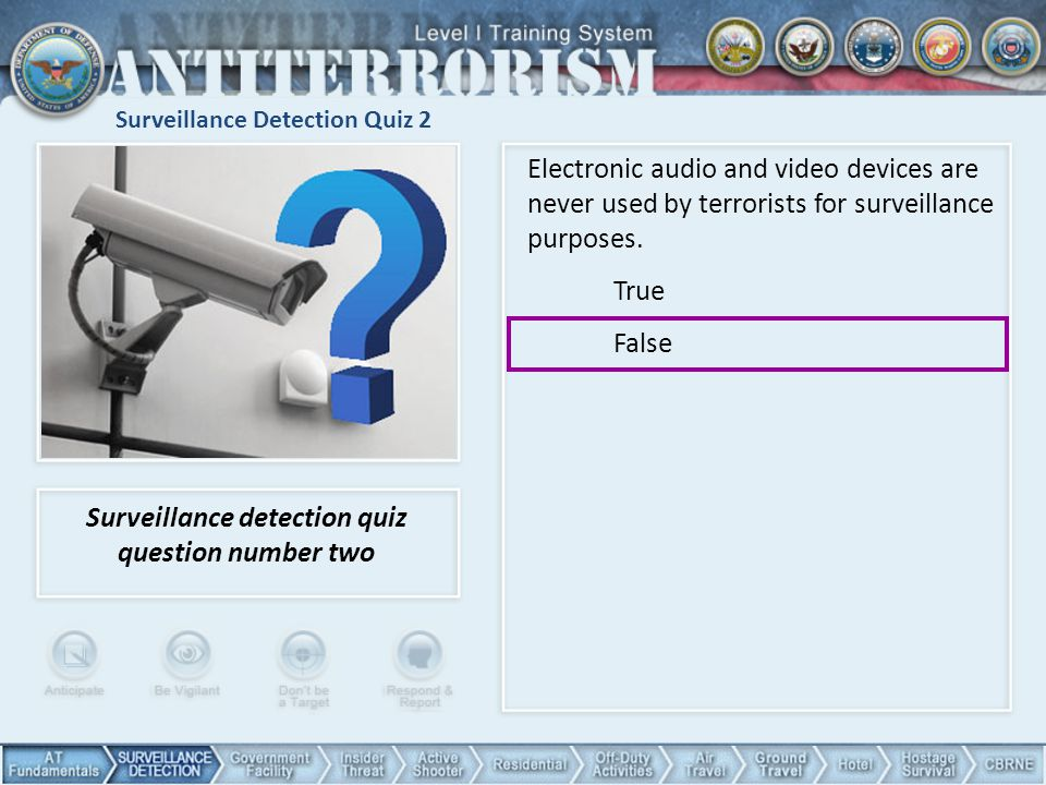 Surveillance Detection Quiz 2