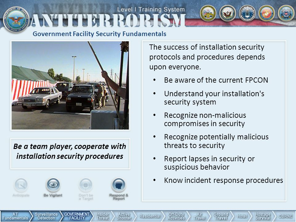 Government Facility Security Fundamentals