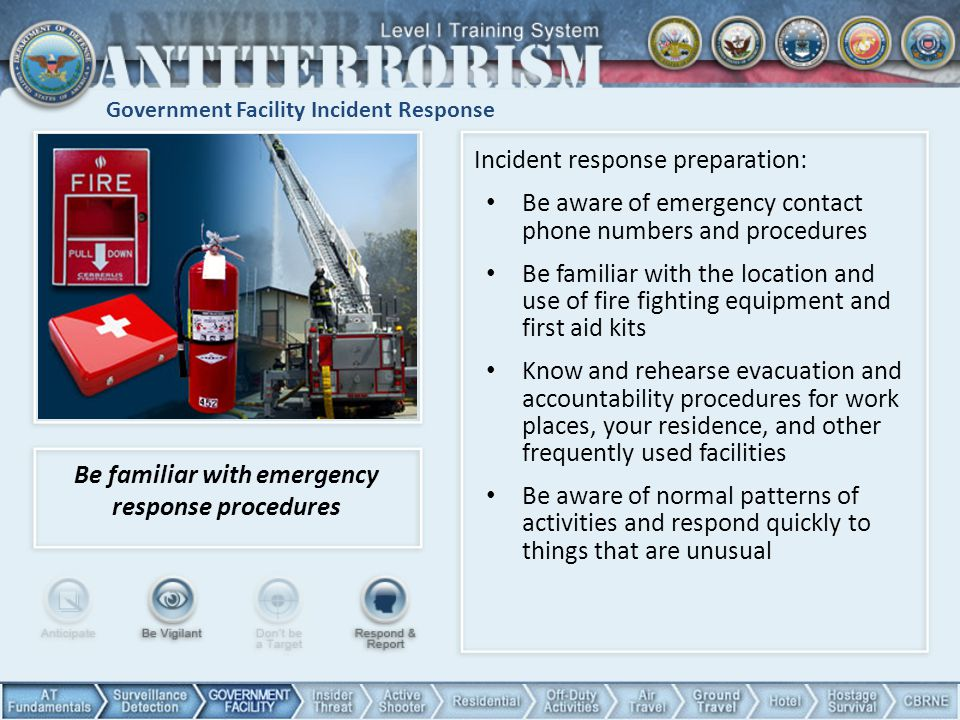 Government Facility Incident Response