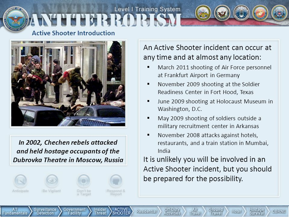 Active Shooter Introduction