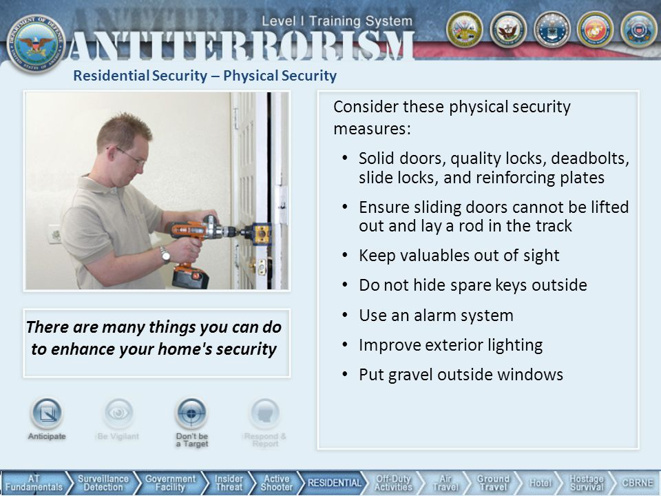Residential Security – Physical Security