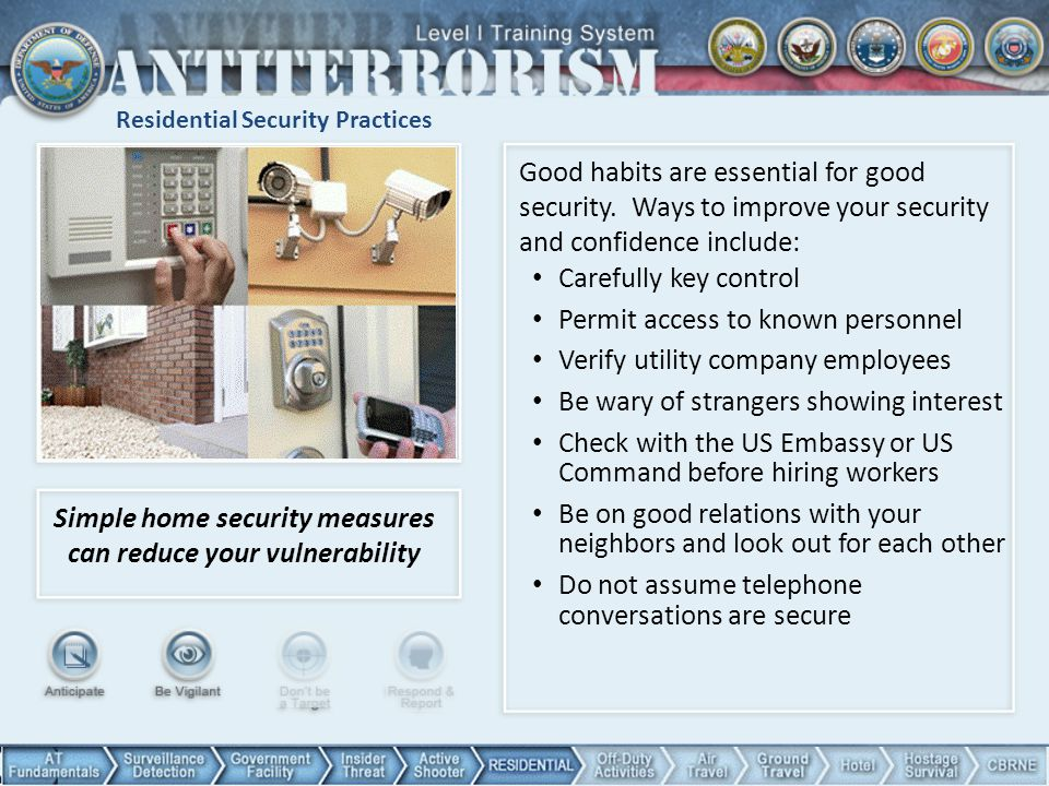 Residential Security Practices