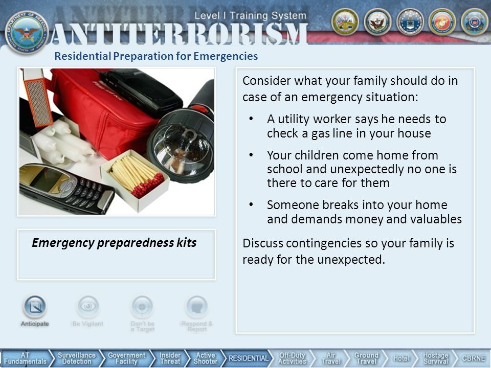 Residential Preparation for Emergencies