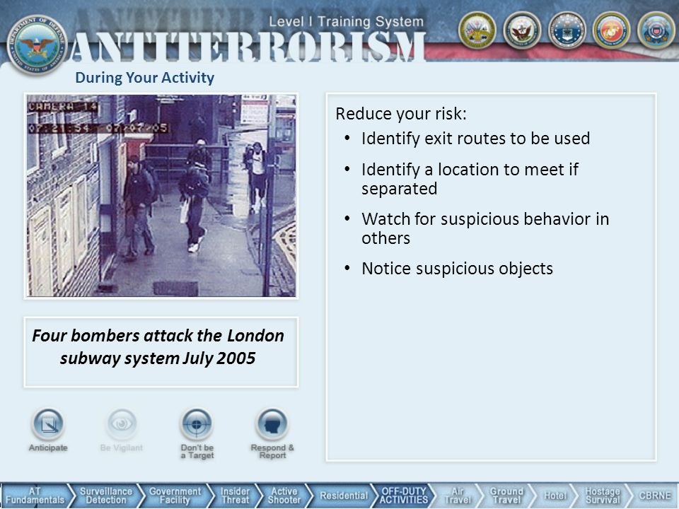 Four bombers attack the London subway system July 2005
