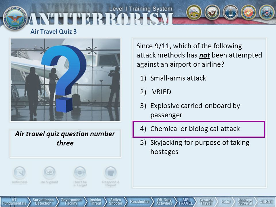 Air travel quiz question number three