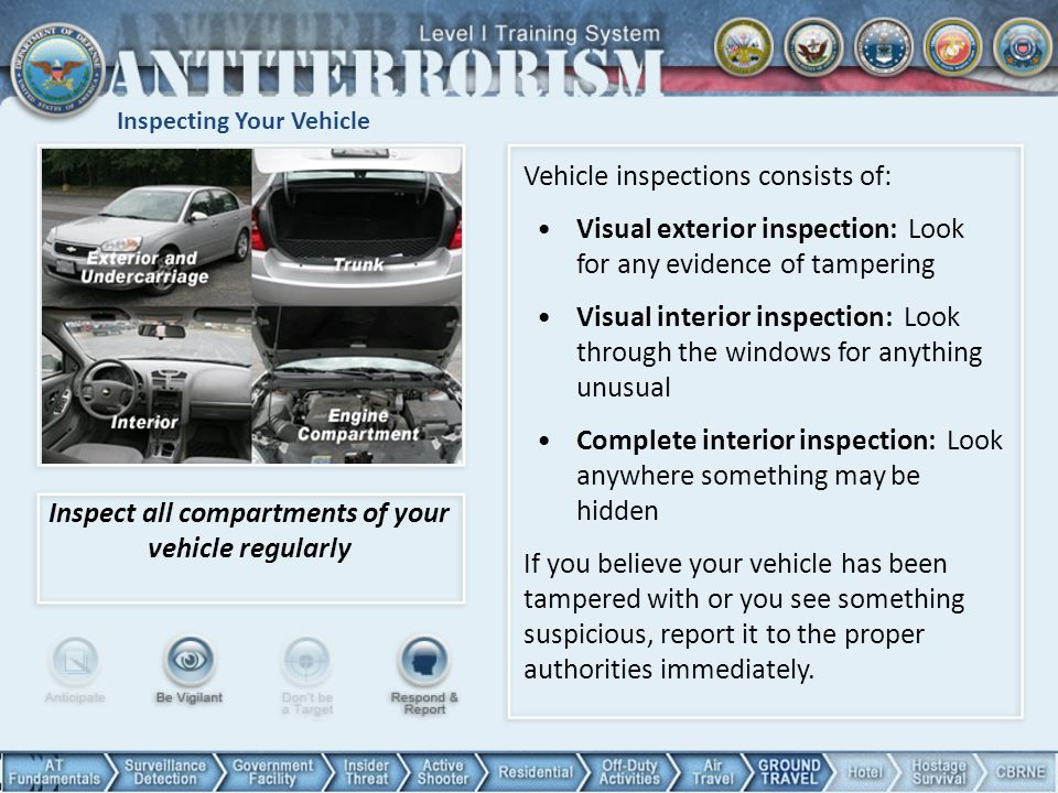 Inspecting Your Vehicle