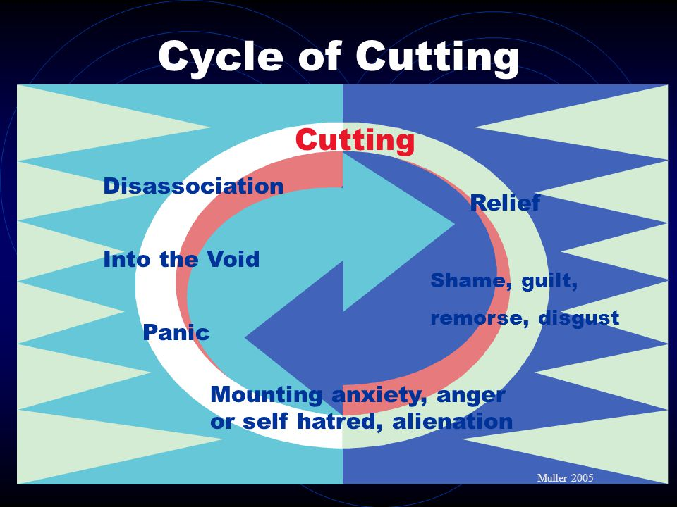 Cycle of Cutting Cutting Disassociation Relief Into the Void Panic